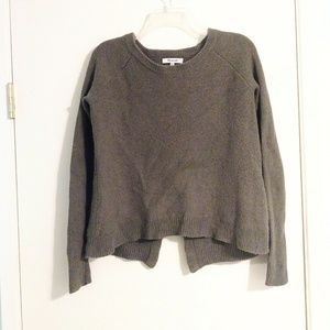 Madewell Olive Green Sweater with Criss Cross Back
